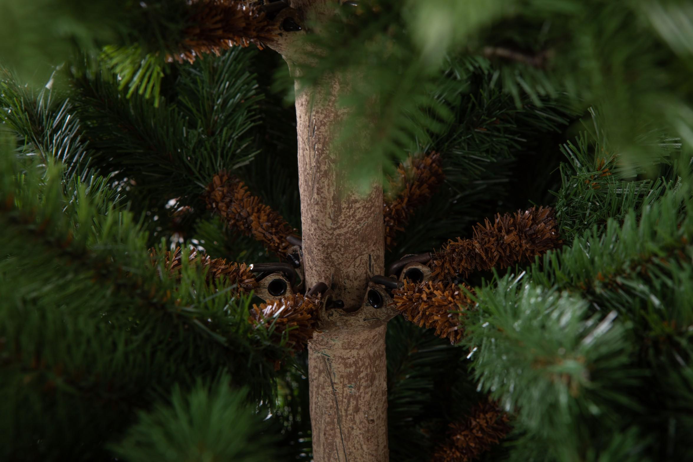Imitácia dreveného kmeňa na 3d stromčeku